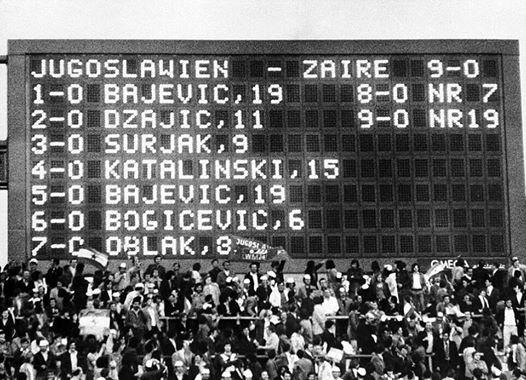 Jugoslavija Zair 9:0: Nestvarna utakmica Jugoslavije predvođena Bajevićem