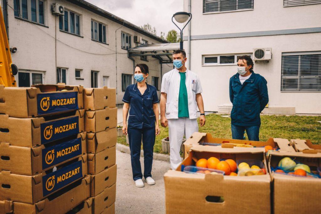 Osvježenje za ljekare - Mozzart uputio donaciju Županijskoj bolnici Orašje